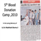 Press Release : Blood Donation Camp